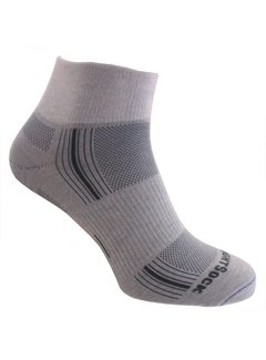 Wrightsock Wrightsock Stride Quarter Light Gray Midweight