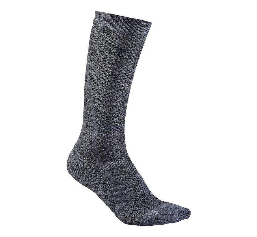 Craft Keep Warm Wool Mid Sock Gray