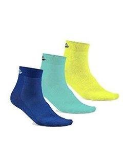 Craft Craft Greatness Mid Sock Blauw-Geel (3 paar)
