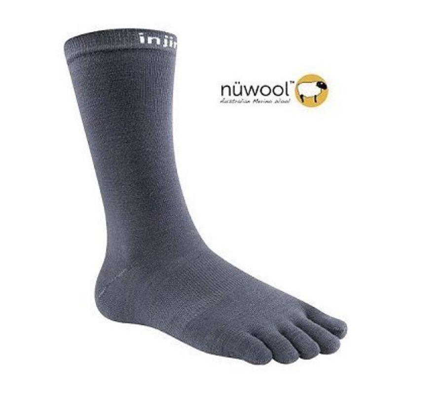 Injinji Liner Crew Nuwool Socken mit Holzkohle