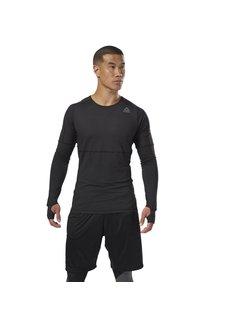 Reebok Reebok Thermowarm Longsleeve Zwart Heren Thermoshirt