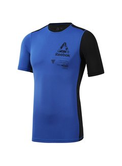 Reebok Reebok Training Compressieshirt Blauw Graphic