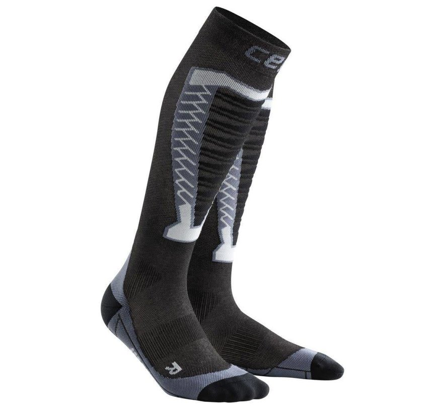 CEP Obstacle Run Compression stockings Anthracite Ladies