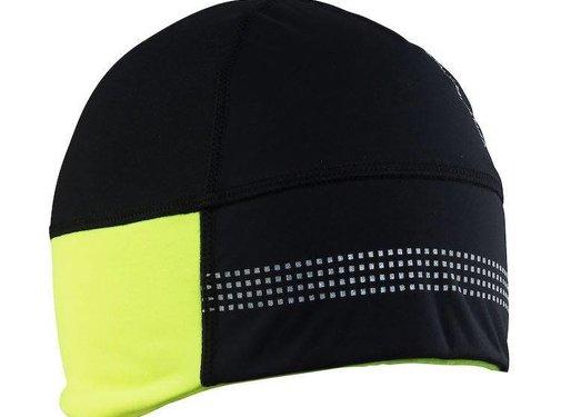 Craft Craft Shelter Hat 2.0 Zwart/Geel Wintermuts