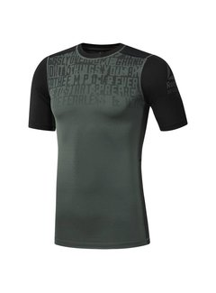 Reebok Reebok ActiveChill Graphic Kompression Shirt Kreide Grün