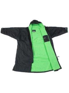 Dryrobe Dryrobe Advance Longleeve Zwart/Groen Maat L