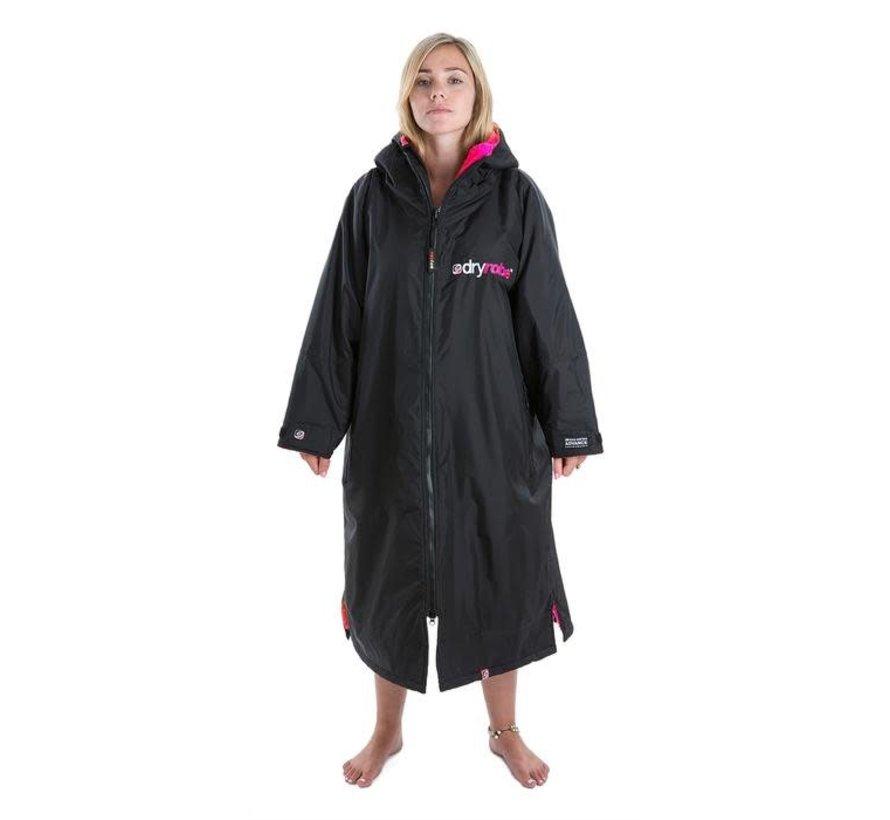 Dryrobe Advance Longsleeve Schwarz / Pink