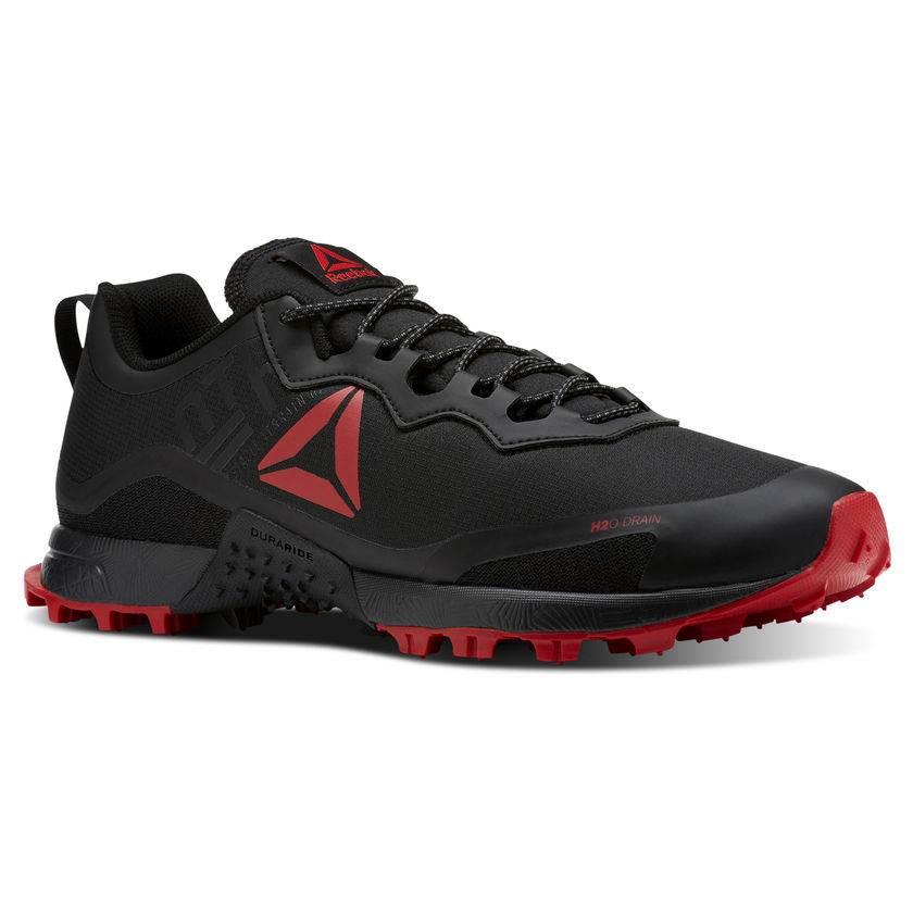 51e8eb5494c Reebok All Terrain Craze Black   Red Trail Shoe - Dutch Mud Men