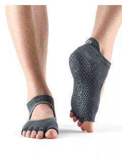 Toesox Toesox Bellarina Grip Half Toe Houtskool