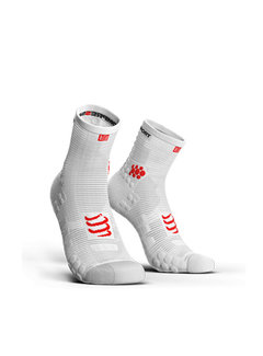 Compressport Compressport Racing Socks V3.0 Run Hi SMart White
