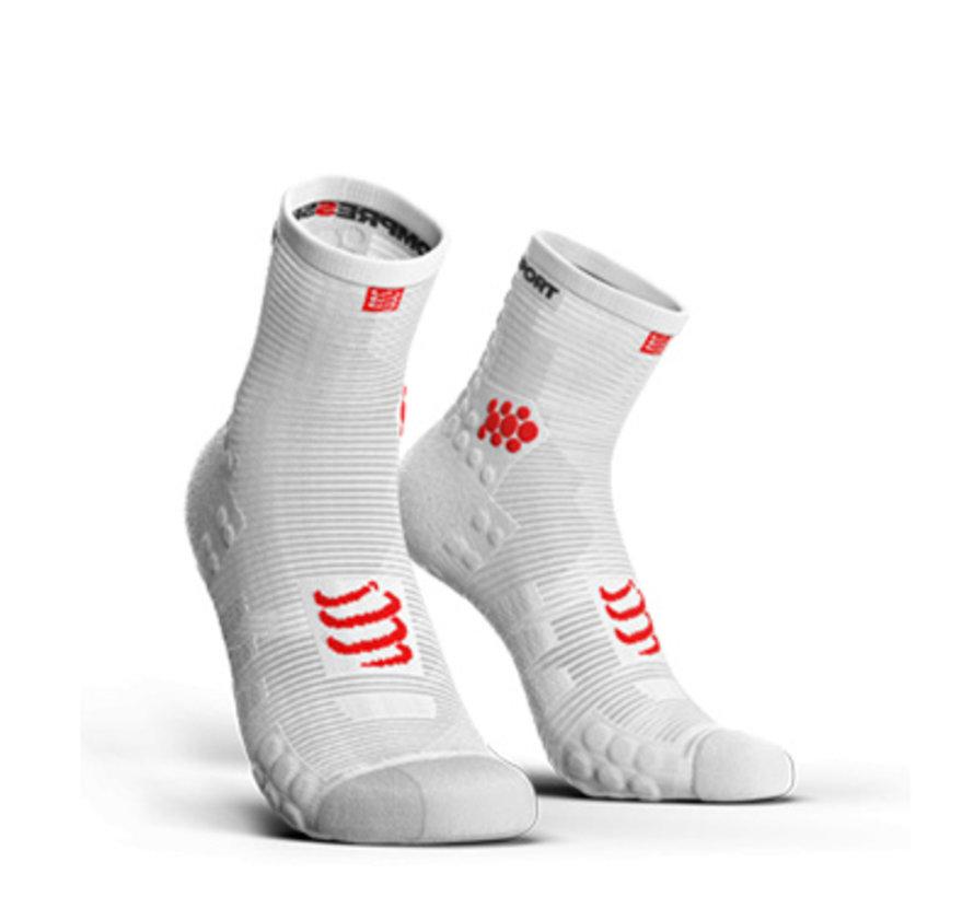 Compressport Racing Socken V3.0 Run Hi SMart White