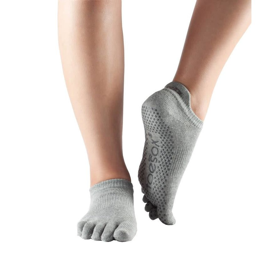Toesox Low Rise Full Toe Grip Teensokken Grijs