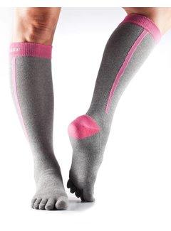 Toe Sox Toesox Zoe Sport Compression Toe Socks Flush