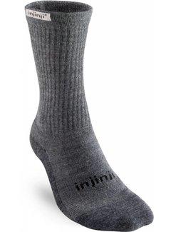 Injinji Injinji Hiker Crew Charcoal Ladies Sports Socks
