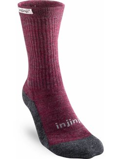 Injinji Injinji Hiker Crew Maroon Women's Sports Socks