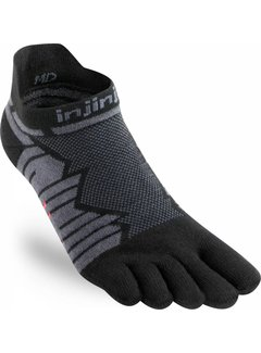 Injinji Injinji Ultra Run No-Show Onyx Toe Socks
