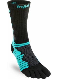 Injinji Injinji Ultra Run Crew Aqua Toe Socks