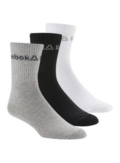 Reebok Reebok Crew Socks Gray / Black / White