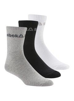Reebok Reebok Crew Sokken Grijs/Zwart/Wit