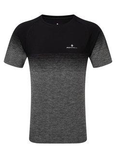 Ron Hill Ron Hill Infinity Marathon Shirt Zwart/Grijs Heren