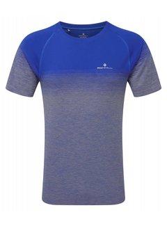 Ron Hill Ron Hill Infinity Marathon Shirt Blauw/Grijs Heren