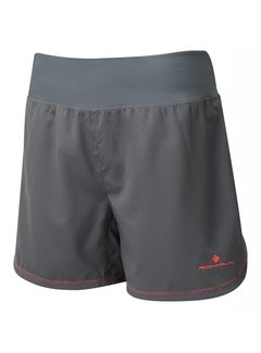 Ron Hill Ron Hill Stride Cargo Short Hardloopshorts Dames Donkergrijs/Roze