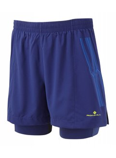 Ron Hill Ron Hill Infinity Marathon Twin Short Blue / Azurite Running Shorts Men