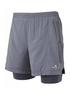 Ron Hill Ron Hill Infinity Marathon Twin Short Gray Running Shorts Men