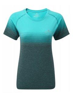 Ron Hill Ron Hill Marathon Shirt Hardloopshirt Dames Blauw