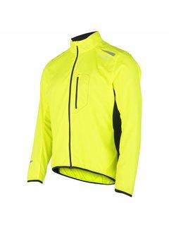 Fusion Fusion S1 Run Jacket Herren Gelbe Laufjacke Wasserabweisend