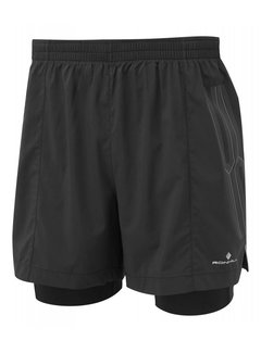 Ron Hill Ron Hill Infinity Marathon Twin Short Black Running Shorts Men
