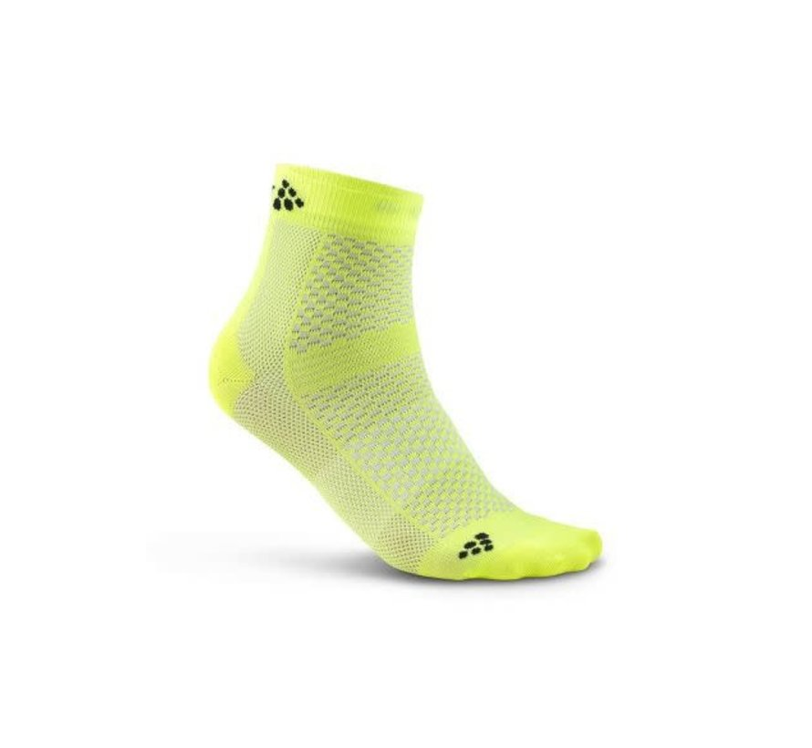 Craft Stay Cool Mid Socks Yellow (2-pack)