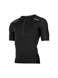 Fusion Fusion SLI Top Short Sleeve Shirt Zwart Heren