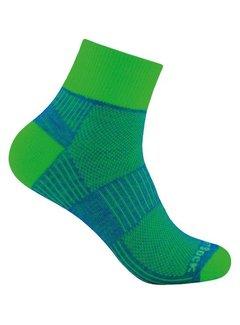 Wrightsock Wrightsock Coolmesh II Quarter Sports Sock Green