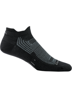 Darn Tough Darn Tough Juice No Show Tab Merino Black Light-Cusion Sport Socks
