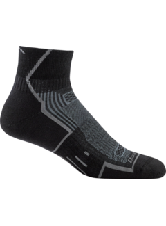 Darn Tough Darn Tough Endurance Grit 1/4 Merino Black Sport Socken