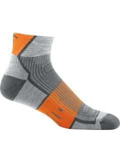 Darn Tough Darn Tough Endurance Grit 1/4 Merino Gray / Orange Sport Socks