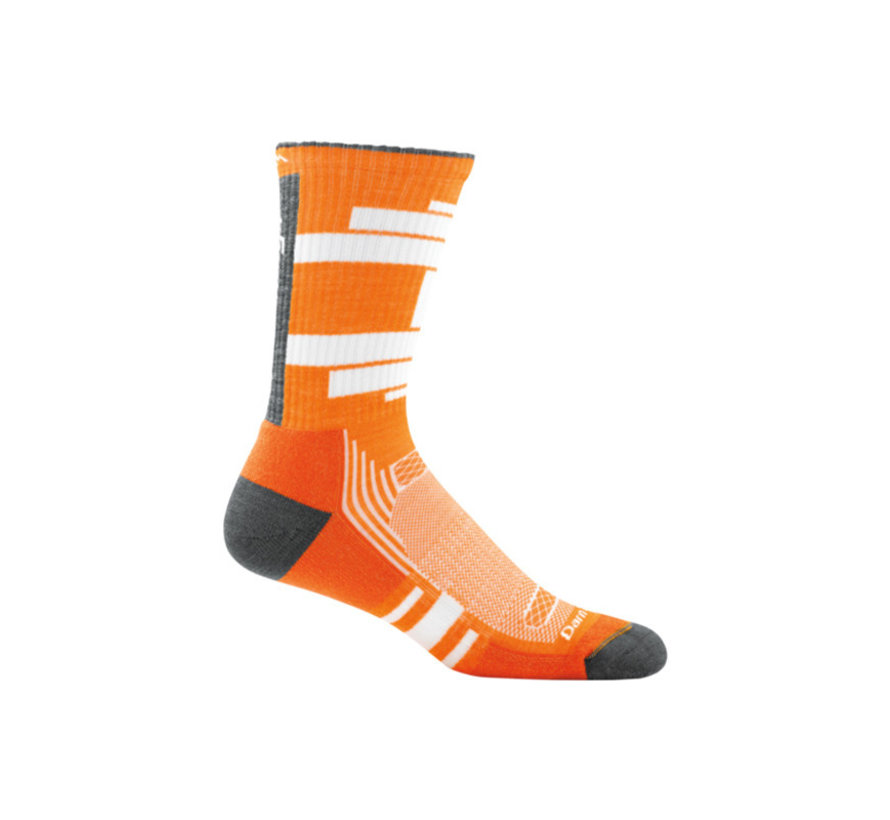 Darn Tough Press Orange Sport Socks Merino