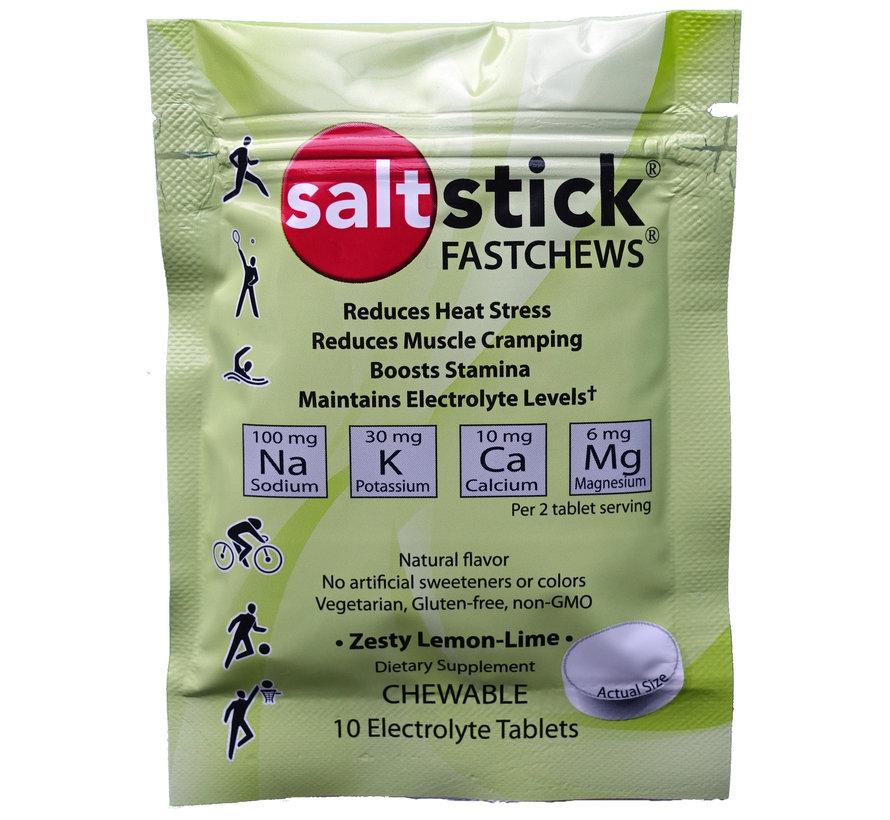 Saltstick Fastchews Lemon Afsluitbaar Sachet