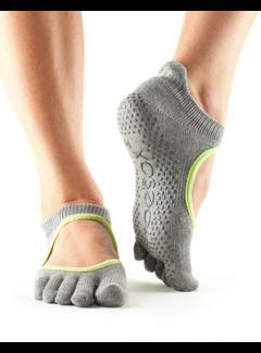 Toe Sox Toesox Bellarina Grip Full Toe Gray Toe Socks