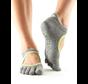 Toesox Bellarina Grip Full Toe Gray Toe Socks