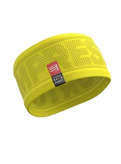 Compressport Compressport Hoofdband On/Off Geel One Size