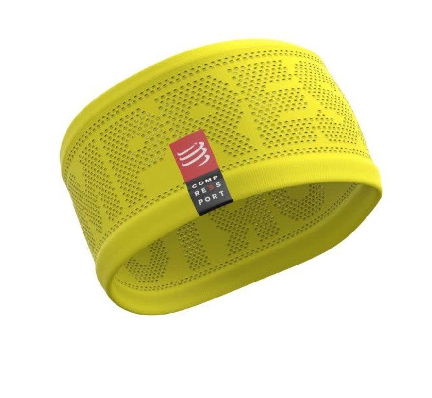 Compressport Stirnband Ein / Aus Gelb Einheitsgröße