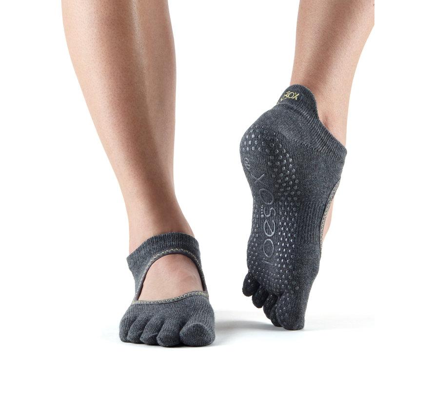 Toesox Full Toe Bellarina Grip Teensokken Charcoal