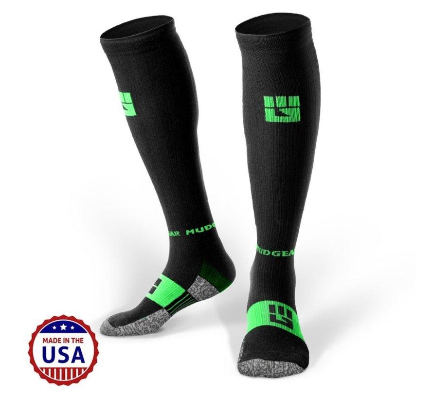 Mudgear OCR Compression Socks Schwarz / Grün