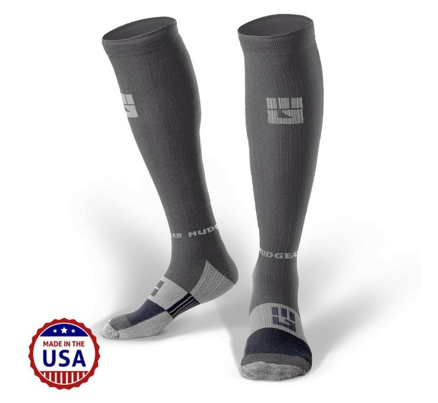 Mudgear OCR Compression Socks Gray / Gray