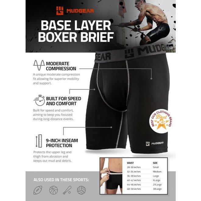 Mudgear Baselayer Compressie Boxershort Zwart
