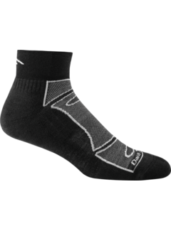 Darn Tough Darn Tough 1/4 Light Cusion Black Sports Socks Unisex
