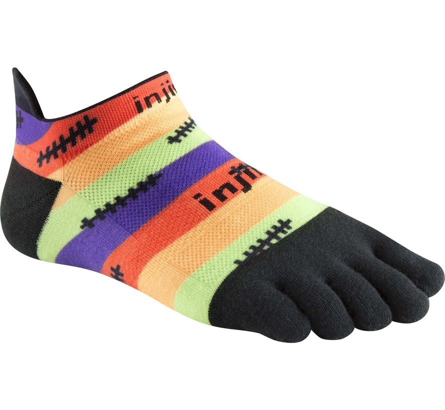Injinji Run Lightweight No Show Toe Socks Stitches
