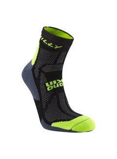 Hilly Hilly Off Road Midweight Single Trailrun Socken Schwarz / Gelb